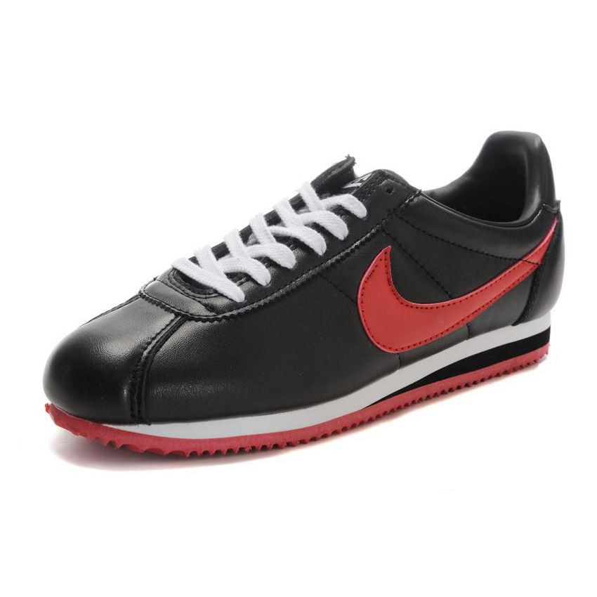vacunación tomar el pelo impactante  Nike Cortez Men Leather Shoes Black Red, Nike Cortez Women, Nike Cortez  Store