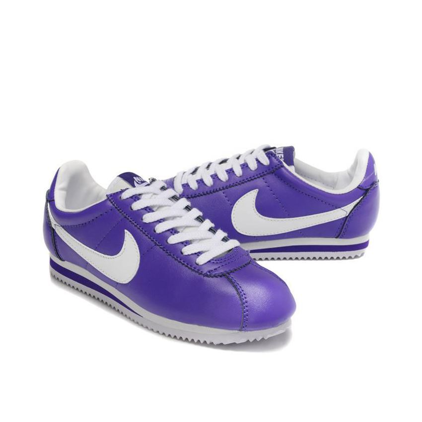 best website 93571 17ab8 Nike Cortez Women Leather Shoes Purple White, Nike Cortez, Nike Cortez  Classic