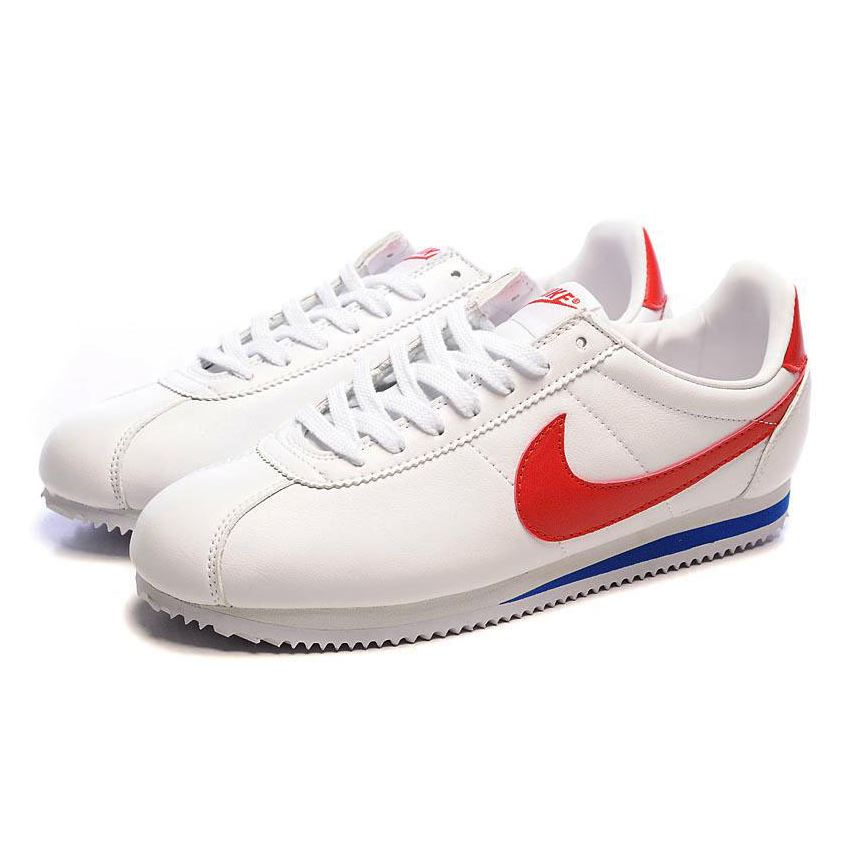 nike cortez womens white and red