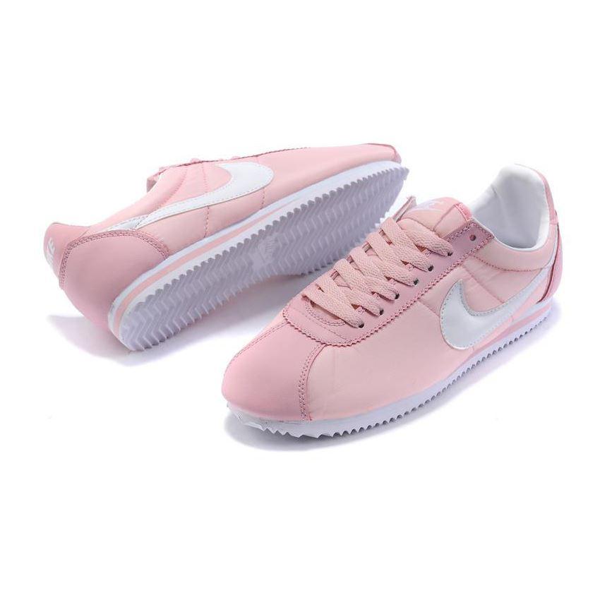 738ca479b217 Nike Cortez Women Nylon Shoes Pink White