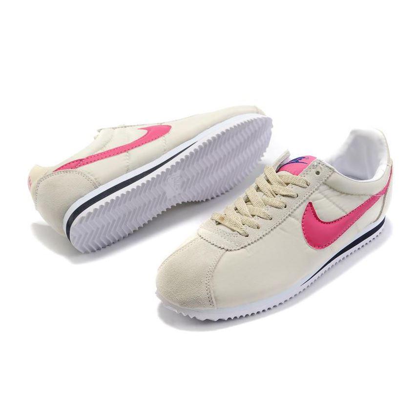 pretty nice 1b327 f8d62 Women Nike Cortez Oxford Cloth Shoes Cream Pink, Nike Cortez Women, Nike  Cortez Classic